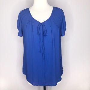 Bellatrix Cobalt Blue Button Up Blouse Medium